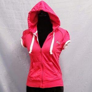 Puma Size S Short sleeve Full Zip Hoodie 🆕💞